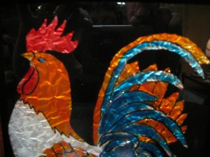 Tinsel Art Rooster