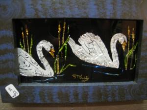 Tinsel Art Swans