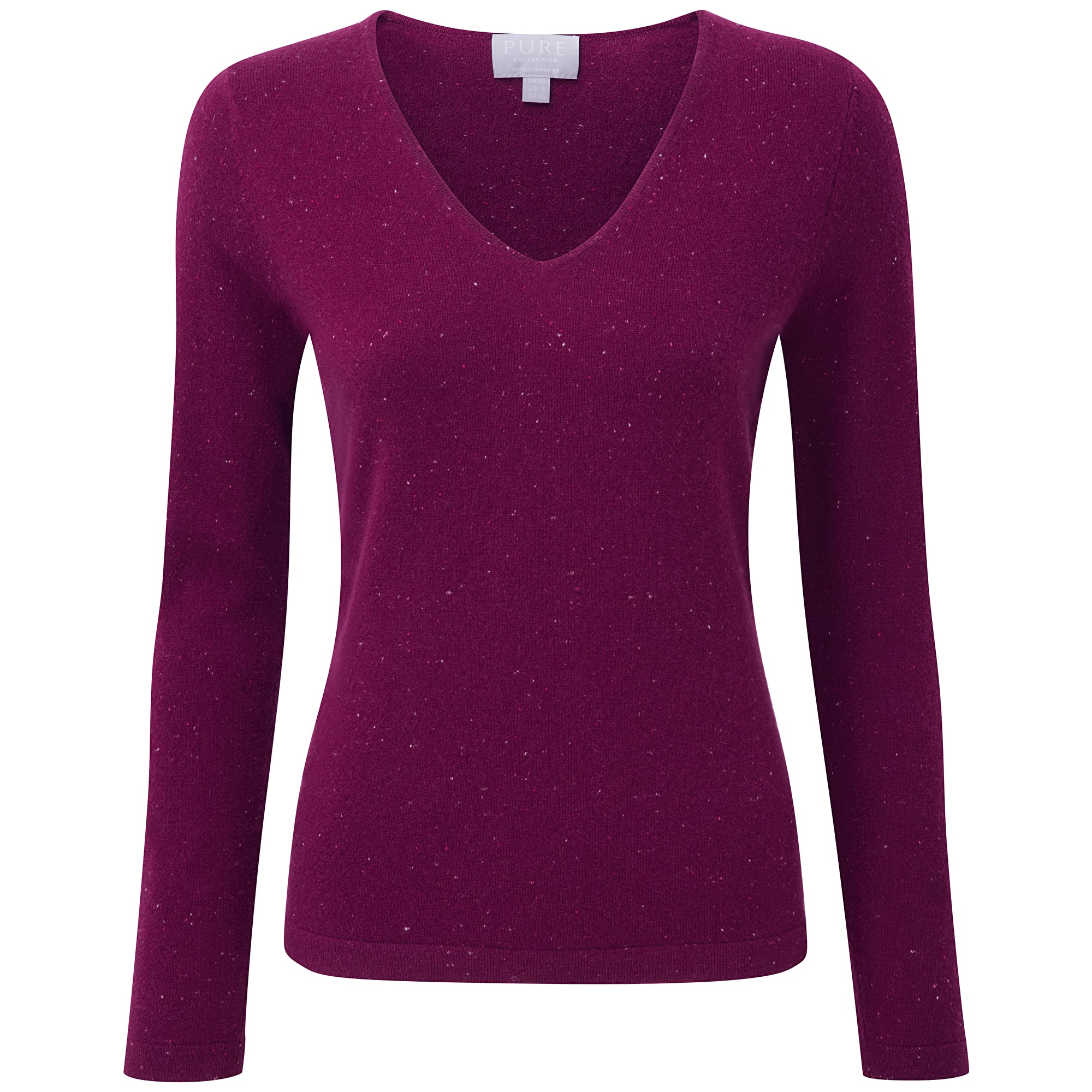 Cashmere_VNeck_Sweater_berry